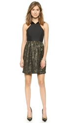4.Collective Strappy Flirty Brocade Dress Gold Multi