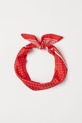 Handm H M Patterned Scarf Red