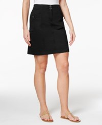 Karen Scott A Line Skort Only At Macy's Deep Black