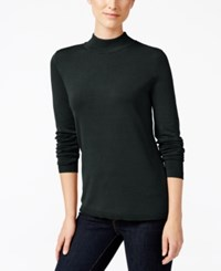 Charter Club Mock Turtleneck Sweater Only At Macy's Deep Black