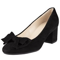 Peter Kaiser Christiane Bow Block Heeled Court Shoes Black