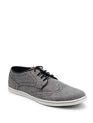 Ben Sherman Nicholas Wingtip Toe Sneakers Black Cham