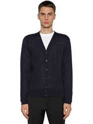 Dsquared Wool Knit Cardigan Navy