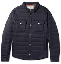 Brunello Cucinelli Quilted Shell Jacket Navy