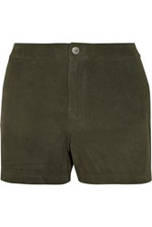 J Brand Mila Suede Shorts Green