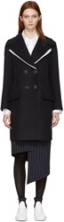 Cedric Charlier Navy Wool Sailor Coat