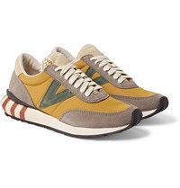 Visvim Attica Suede Trimmed Nylon Sneakers Yellow