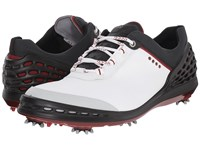 Ecco Cage White Black Men's Shoes