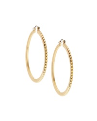 Rj Graziano R.J. Graziano Pyramid Detail Hoop Earrings Golden
