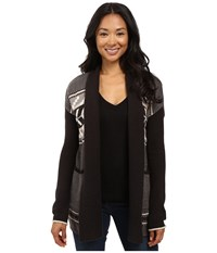 Billabong Pattern Play Cardigan Off Black Women's Sweater