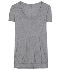 Velvet Rowen Cotton Blend T Shirt Grey