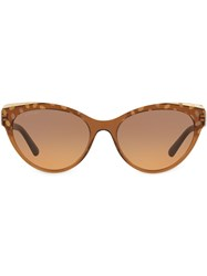 Bulgari Cat Eye Patterned Sunglasses 60