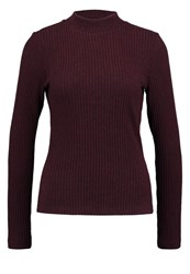 Only Onlwonder Long Sleeved Top Winetasting Bordeaux