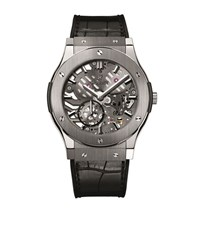 Hublot Classic Fusion Ultra Thin Skeleton 45Mm Watch Unisex Black