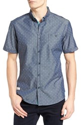 7 Diamonds Men's Everlasting Light Print Chambray Shirt