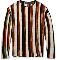 The Elder Statesman Rola Rasta Striped Cashmere Sweater Black