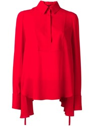 Alexander Mcqueen Draped Blouse Red