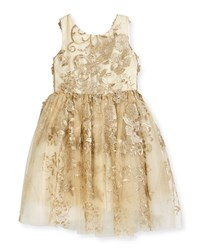 Zoe Goldie Textured Tell Party Dress Size 7 16