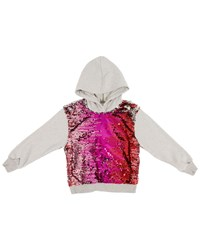 Hannah Banana Sequin Front Hoodie Size 4 6 Multi
