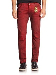 Robin's Jeans Motard Moto Jeans Dusty Red