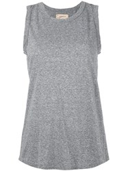 Current Elliott Wrap Back Tank Top Women Cotton Polyester Rayon 2 Grey