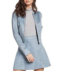 Bcbgeneration Faux Suede Moto Jacket Rock