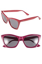 Women's Isaac Mizrahi New York 55Mm Cat Eye Sunglasses Rose