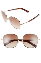 Tom Ford Women's Georgina 57Mm Gradient Lens Square Sunglasses Rose Gold Blonde Brown Rose Gold Blonde Brown