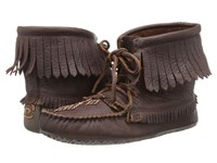 Manitobah Mukluks Harvester Moccasin Grain Cocoa Women's Lace Up Boots Brown
