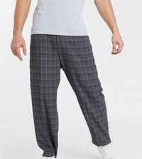 Noak Wide Leg Check Trouser In Grey