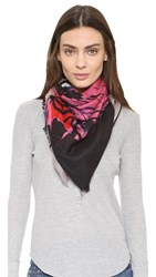 Yarnz Self Portraits Scarf Mauve Grey