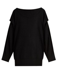 Loewe Double Layer Cashmere Sweater Black