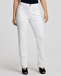 Michael Michael Kors Plus Size Straight Jeans In White