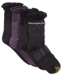 Gold Toe Women's 4 Pk. Santiago Texture Socks Blackberry