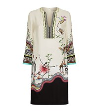 Etro Safari Print Tunic Dress Female White