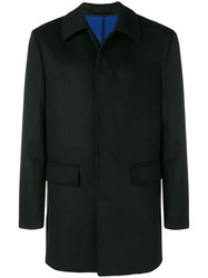 Paolo Pecora Single Breasted Fitted Coat Black