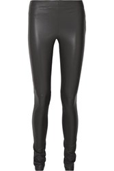 Joseph Leather Leggings Gray