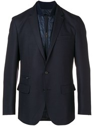 Hugo Boss Layered Padded Detailed Blazer Blue