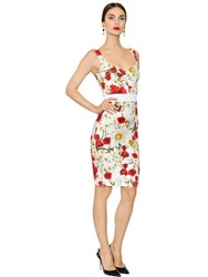 Dolce And Gabbana Floral Printed Cady Bustier Dress