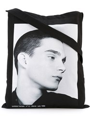 Raf Simons Tote Bag With Picture Black