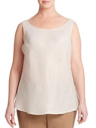 Lafayette 148 New York Metallic Linen Shell Chai Metallic