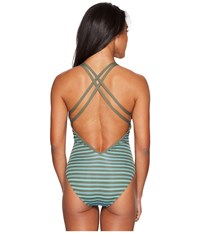 Carve Designs Beacon Full Piece Canyon Stripe Women's Swimsuits One Piece Blue