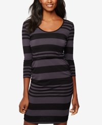 A Pea In The Pod Tiered Nursing Dress Stripe