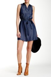 Iris Chambray Sleeveless Dress Blue