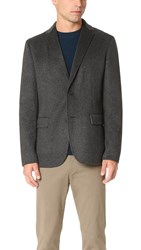 Theory Tobius Reish Jacket Med Charcoal