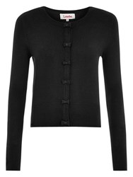 Louche Ivy Bow Front Cardigan Black