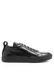 Balmain Perforated Leather Low Top Trainers Black Multi