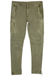 Mhi M65 Sage Twill Cargo Trousers Olive