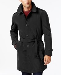 Kenneth Cole New York Slim Fit Reino Water Repellent Raincoat Black