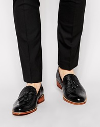 Reiss Tassel Loafers Black